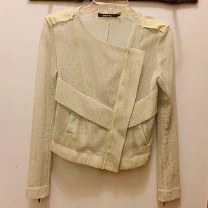 Ark & Co. Mesh Pastel Green Moto Jacket